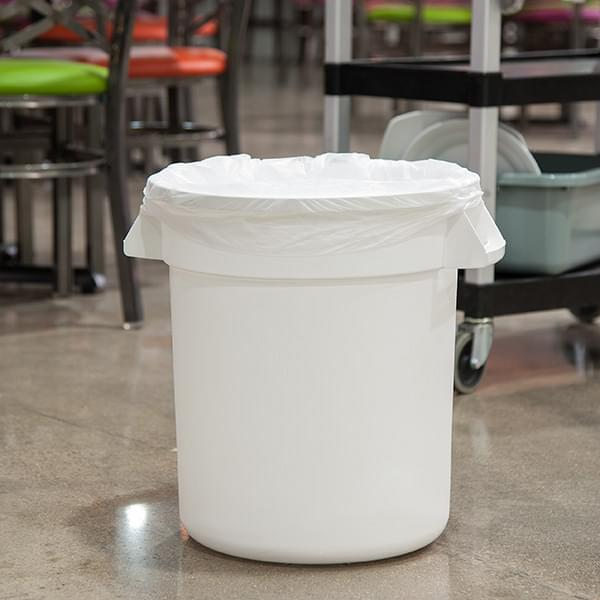 The Carlisle FoodService Bronco™ Products Round Waste Bin Food Container