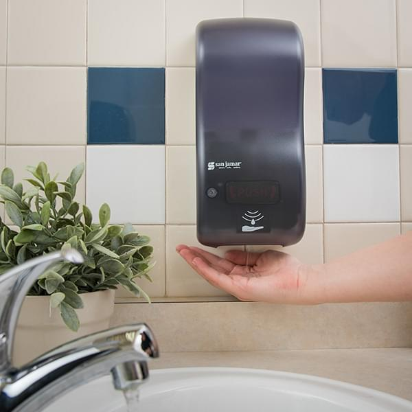 The San Jamar Rely® Hybrid Electronic Touchless Soap Dispenser