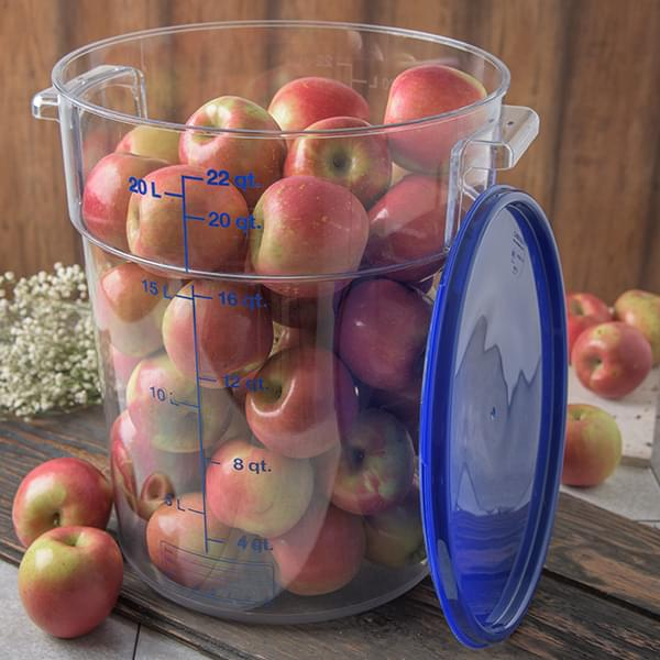 The Carlisle FoodService Products Clear StorPlus™ Round Food Storage Container