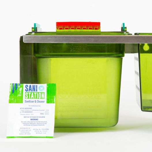 The Sani Station Counter Stand Utensil Cleaner